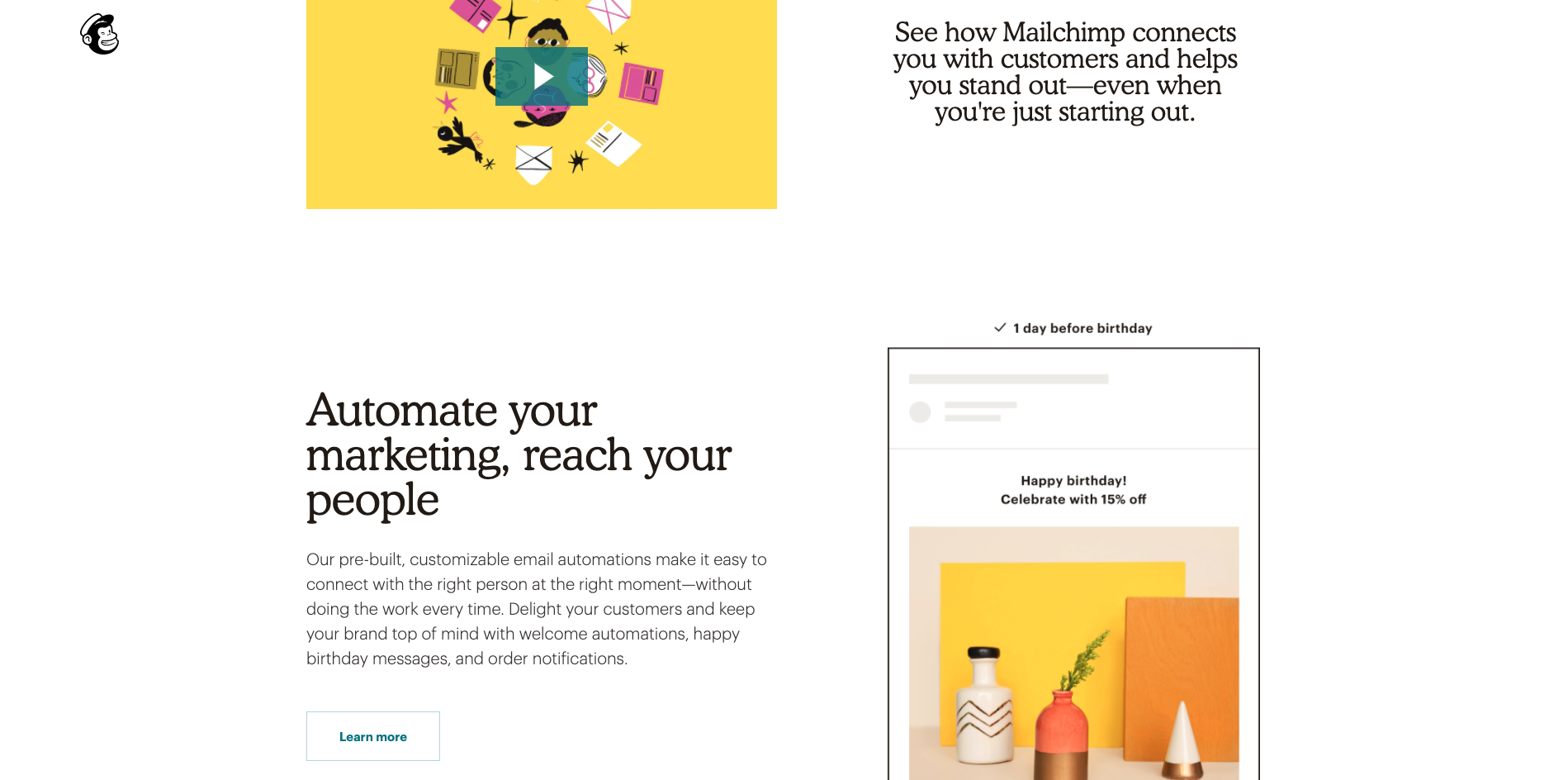 Mailchimps-homepage-displaying-a-modern-take-of-how-to-use-Cooper-Light