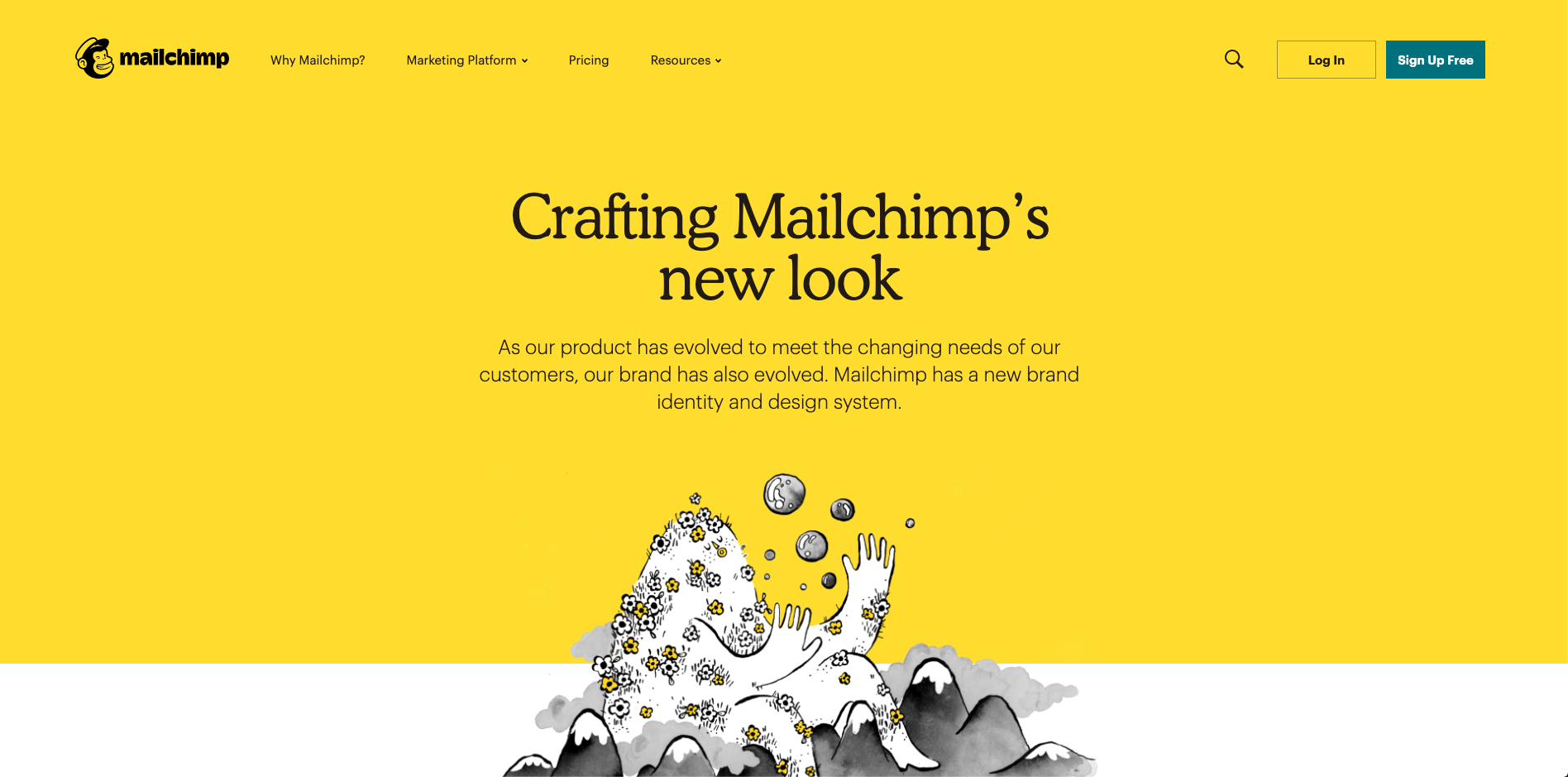 Mailchimps-landing-page-for-branding-displaying-use-of-Cooper-Light